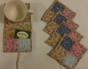 Tea Wallet and Coaster Set