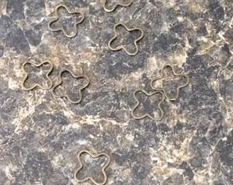 Bronze Flower Stitch Markers