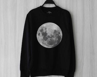 Moon Sweatshirt Sweater Jumper Pullover Shirt – Size XS S M L XL