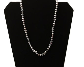 Black Pearl Necklace - Peacock Pearls - Nugget pearl - Black Pearl Jewelry - Freshwater Pearls