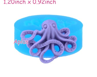 DYL046 30.7mm Octopus Silicone Mold - Animal Mould Fondant, Cake Decorating Tools, Scrapbooking, Food Safe, Resin, Jewelry Mold
