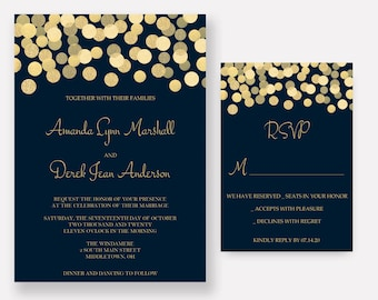 navy wedding invites | etsy, Wedding invitations