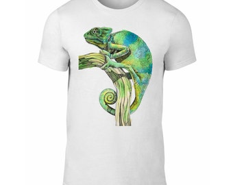 Chameleon T-Shirt for Men and Women, Chameleon Tee, Chameleon Clothing, S M L XL