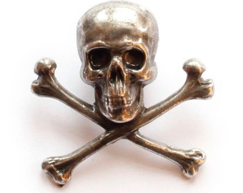 metal skull pin broach / pin