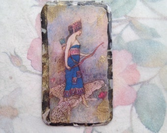 Zenobia Resin Pendant, Warrior Queen, Strong Woman, jewelry components, resin pendant, handcrafted jewelry components
