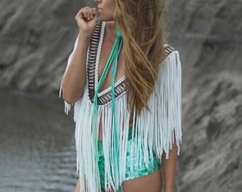 Fringe top / Festival clothing / Burning man costumes / Coachella outfits / festival clothes / Fringe dress / Boho chic