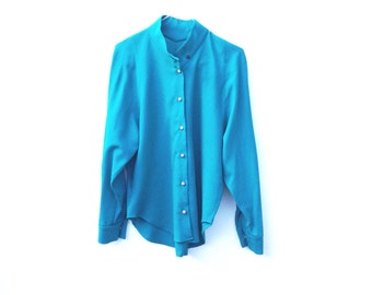 Jewel Green Blouse / St Michael / Small Medium