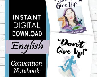 ENGLISH 'Don't Give Up!' DIGITAL Regional Convention Notebook PDF File Download