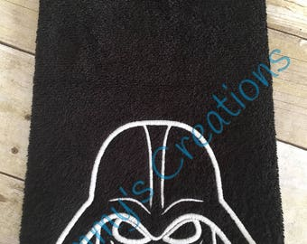 Glow in the Dark The Dark One Embroidered Hand Towel, Bathroom Towel
