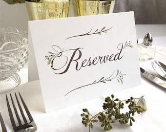 Reserved Wedding Table Sign Customized Wedding Table Sign
