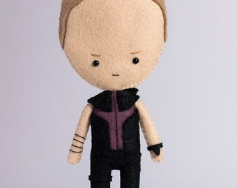 Hawkeye (Clint Barton) - poseable plush from Avengers - handmade doll