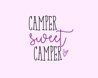 Camper Sweet Camper- Vinyl Decal