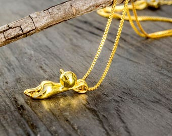 Cat Necklace-Gold