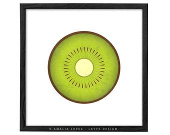 Kiwi print. Fruit print Green kitchen print kiwi poster green kitchen poster fruit poster red kitchen decor housewarming gift fruits print