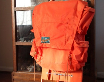 The Everest Hiking/Camping Backpack, WFS Camping Pack, Backpack with Frame, Man Cave, Orange Backpack, Boy Scout, Summer Camp, WTH-1612