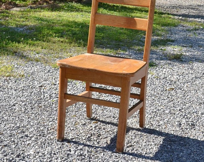 Vintage Wooden School Chair Adult Size Old School Furniture No 2 PanchosPorch