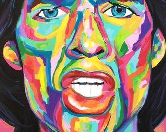 CUSTOM POP ART Painting of any Celebrity, 24x36 Canvas
