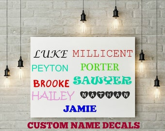 Sale, Personalized Name Decal, Custom Name Decal, Custom Name Sticker, Yeti Decal, Car Decal, Computer Decal, Yeti Cup, Wall Decal, Alphabet