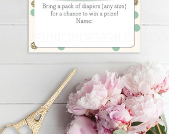 Baby Shower Diaper Raffle   Diaper Raffle Ticket   Print At Home   Baby  Shower Game