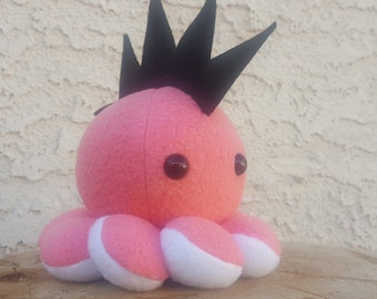 Mohawk Octopus Plush - Stuffed Octopus