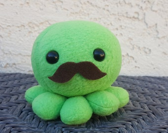 Mustache Octopus Plush - Stuffed Octopus