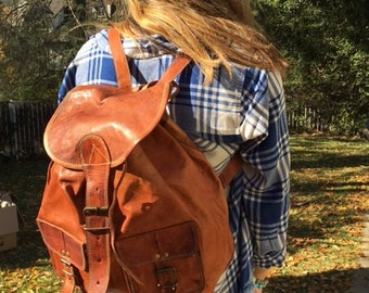 Leather backpack,Backpack bag, brown leather backpack, leather back pack