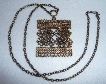 Pentti Sarpaneva (Finland). Necklace. Bronze. Vintage.