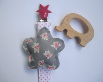 Pacifier Clip-Pacifier Tong-Chupetero Baby-Pacifier-Clip Pacifier Shabby Chic-tweezer for your baby-tweezer with star