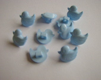 10 blue duck buttons