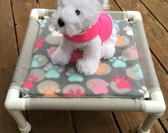 Small PVC Dog Bed with Waterproof Cushion- Custom Colors Available