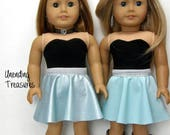 18 inch doll clothes AG doll clothes made to fit like American Girl doll clothes reversible dress and belt