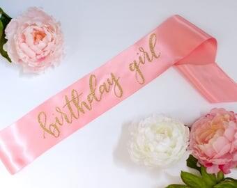 Birthday Girl Sash - Hand Lettered