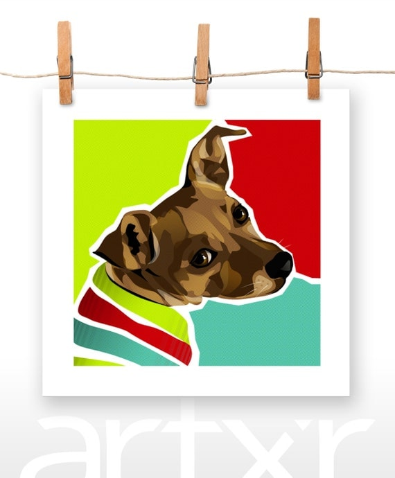 DEANO / The PET PROJECT / Dachshund Mix / Fine Art Print / Various Sizes