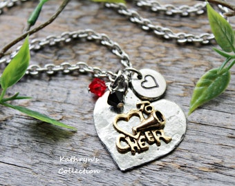 Cheer Necklace, Cheerleader Jewelry, Read Full Listing Details
