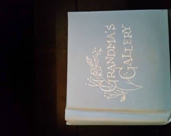 1962 Grandma's Gallery Blue Small Baby Photo Album Book