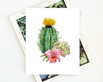 Gallery Art Print, Cactus Botanical Print, Botanical Art, Contemporary Cactus Art, Botanical Printable Art, Cacti Print, 8x10 Digital Print