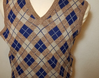 FREE  SHIPPING  Argyle Men Knit Vest