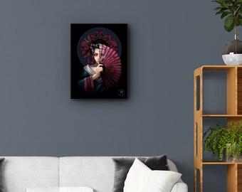Hidden Geisha 3D Lenticular Art Print or Framed 3D Art Print