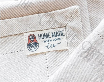 18 Handmade Retro Fabric Labels//Clothing Label//Sewing Accessories//Garment Label//DIY//Craft Label//Custom Label//Sewing Label