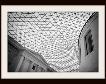 London Print, British Museum, Black and White Fine Art Photography, Architecture Photography, London Art