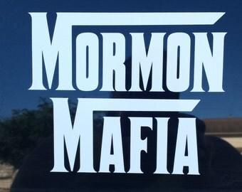 Mormon mafia sticker