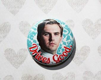 Cousin Matthew Downton Abbey- one inch pinback button magnet