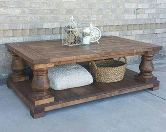 Long Balustrade Coffee Table - Coffee Table