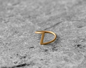 minimalist chevron band ring, gold plated, geometric ring, simple ring,
