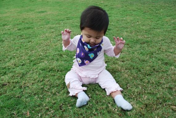 Elephant Bandana Baby Scarf - Elephant Print Baby Scarf - Baby Bandana Scarf -Winter Baby Scarf-Elephant Scarf-Baby Girl Scarf-Bandana Scarf