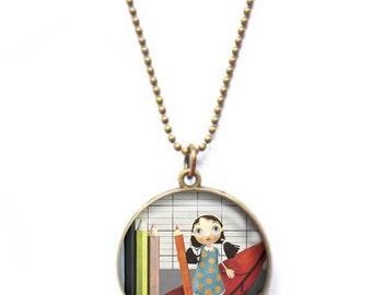 Double-sided Recreation - Youpla & Anatopik necklace