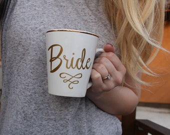 White and Gold Bride Coffee Mug