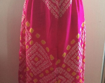 Japanese Shibori Silk Skirt