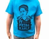 Feminist Toddler Shirt: F is for Frida Kahlo T-Shirt