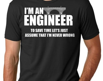 Engineer T-Shirt Gift For Engineer Funny Occupation Engineering Tee Shirt
